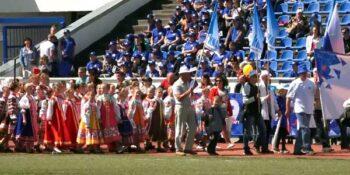 Праздничный парад предприятий Дзержинска впервые прошел на стадионе «Химик»