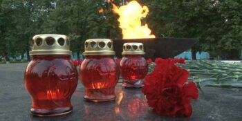 В Дзержинске зажгли «Свечу памяти»
