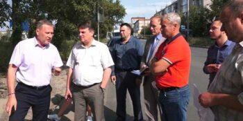 И. о. главы Дзержинска Глеб Андреев провел объезд территорий, где завершилась асфальтировка