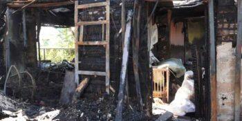 Семья из Игумново после пожара осталась без крыши над головой