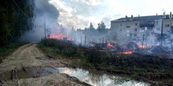 Крупный пожар произошел в Богородском районе