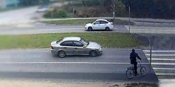 Зебра нарушителей не любит. Видео наезда на велосипедиста на пешеходном переходе в Дзержинске