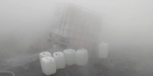 В промзоне Дзержинска задымились емкости с неизвестным веществом